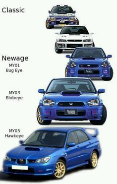 Subaru Impreza WRX STi.  These Model Years only pertain to JDM Models.  USDM all move ahead one year.
