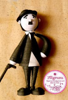 3D Quilling: Charlie Chaplin
