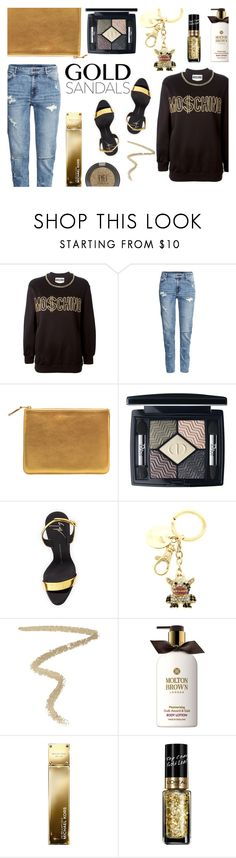 """""""Blig bling"""" by living-on-the-catwalk ❤ liked on Polyvore featuring Moschino, H&M, Comme des Garçons, Christian Dior, Giuseppe Zanotti, By Terry, Molton Brown, Michael Kors, L'Oréal Paris and Topshop"""