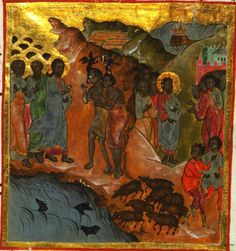 Artist unknown.  In the style of Adrei Rublev, 1360 - 1427/8  & Theophanese the Greek, born 1330's - died 1405/7 .