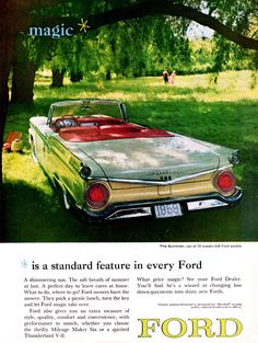 """Ford 1959: """"Magic is a Standard Feature in Every Ford."""""""