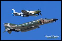 F-4 and a p-51
