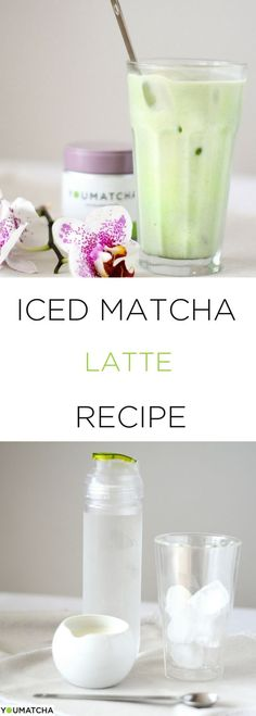 A delicious iced latte version that will pick you up and get you going in those scorching summer days – an ICED MATCHA LATTE. #icedlatte #youmatcha #premiummatcha #icedmatchalatte #cleaneats #healthydrinks