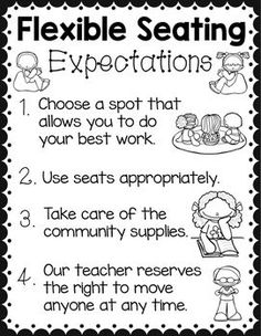 Flexible Seating Freebie! Student Expectations Poster!