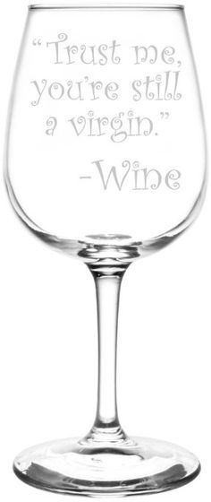 Amazon.com | (Trust Me, You're A Queen) Drunk Wine Talk Truth Inspired - Laser Engraved 12.75oz Libbey All-Purpose Wine Taster Glass: Wine Glasses