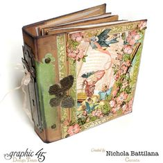 Nichola's Once Upon a Springtime mixed media album! So gorgeous #graphic45