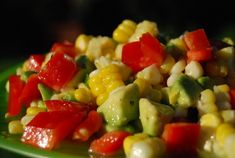 corn pepper and avocado salad - The Daily Dish - 11 mg of sodium per serving.