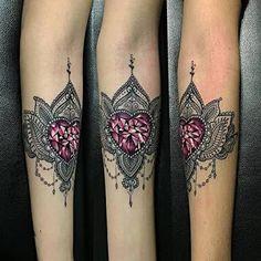 Image result for diamond heart tattoos