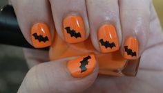 Black Bats Halloween Vinyl Nail Decals- Set of 50 on Etsy, $5.00
