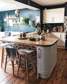 Kitchen decor kitchen diner extension, updated kitchen, quirky kitchen, o. Open Plan Kitchen Living Room, Home Decor Kitchen, Interior Design Kitchen, Home Kitchens, Kitchen Ideas, Quirky Home Decor, Kitchen Images, Updated Kitchen, New Kitchen