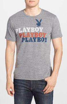 Men's Junk Food 'Playboy' Graphic T-Shirt