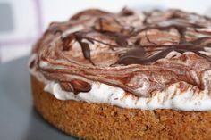 Schneegestöber-Torte - bestimmt auch lecker mit Kirschen