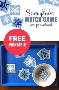 Free Printable Match Game for Winter - No Time For Flash Cards Print out these snowflakes and start playing! Free printable match game for free choice at preschool. Match colors, shapes, or both! Free Preschool, Preschool Themes, Preschool Science, Preschool Lessons, Preschool Winter, Free Printables For Preschool, Winter Fun, Winter Theme, Science Experiments For Preschoolers