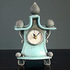 Ian Roberts ceramic handmade clock from Iapetus
