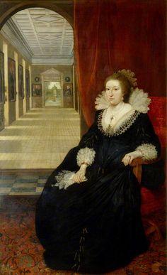 Daniel Mytens (1590-1647) - Alathea, Countess of Arundel and Surrey, c.1618: National Portrait Gallery, London (609x1000)