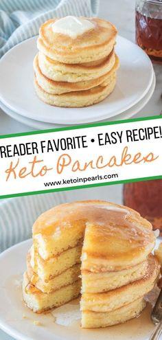 Low Calorie Pancakes, Best Keto Pancakes, Pancake Calories, Carb Free Pancakes, Almond Flour Pancakes, Healthy Low Carb Recipes, Low Carb Desserts, Low Carb Keto, Low Fat Low Carb