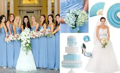 "A baby-blue palette is fancy and fun, plus you'll be totally covered when it comes to choosing your ""something blue""! This pastel shade of blue is one of the most classic wedding colors around, so ..."