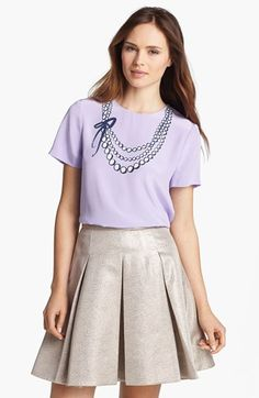 kate spade new york 'alexandria' silk top available at #Nordstrom