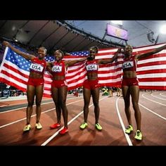Congratulations to @midknightblaze and her olympic 4x100 relay team #USA #GOLD #LONDON2012