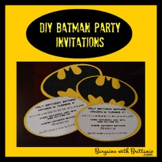 DIY Batman Party Invitations! Bargains with Brittanie