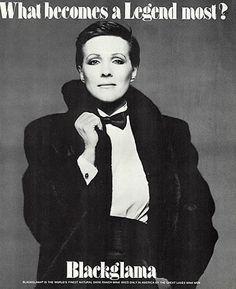 "Julie Andrews - Blackglama Mink ""What Becomes A Legend Most?"" Ad Campaign (1982)."