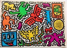 Keith Haring Pop Shop Tokyo print on canvas, print on wood, print on steel or print on paper Keith Haring Prints, Keith Haring Poster, Keith Haring Art, Principles Of Art Balance, Balance Art, Norman Rockwell, Mondrian, Rembrandt, Graffiti Murals