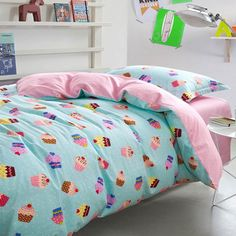 Free shipping!!Cute cartoon bedding sets teens kids,twin full 100%cotton,single home textiles bedsheet duvet cover pillow case-in Bedding Sets from Home & Garden on Aliexpress.com | Alibaba Group