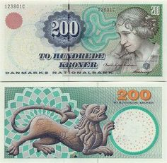 Denmark - Danish Currency Banknote Image Gallery - Banknotes of Denmark Denmark Currency, Money Notes, Stone Lion, Foreign Coins, Money Bank, Notes Design, Old Coins, Wealth, Seals