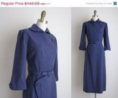 SALE 25% OFF 1940s Dress / Vintage 1940s by TulleandTiaraVintage