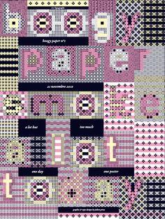 The Boogy Paper One by Julien Priez, via Behance