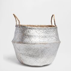 CONVEX BASKET WITH HANDLES
