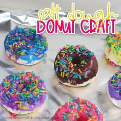 Salt dough donut craft