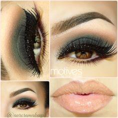 Smokey Eye and Glittery Wing