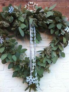 seeded eucalyptus - Lilly is Love Wreaths And Garlands, Xmas Wreaths, Door Wreaths, Valentine Wreath, Valentine Decorations, Christmas Decorations, Holiday Decor, Christmas Greenery, Green Christmas