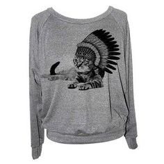 Cat Chillin Raglan Women's Gray