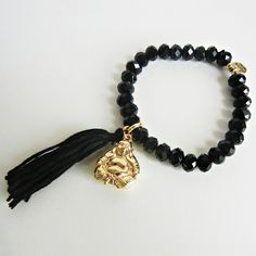Buddha Bracelet Black by LO by Love Obsessed