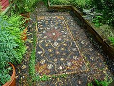 Stone Art Blog: Jeffrey Bale's Mosaic Pilgrimage, a labour of love, a labour of pebbles!
