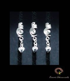 Loc Jewelry Hair cuff  Sterling Silver swirl by kawaiiAdornments #loccuff #sisterlocks #hairjewelry
