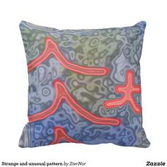 Strange and unusual pattern pillow