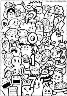 New Year Coloring Pages 2017 For Adult