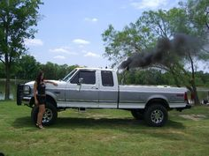Rollin coal with a sexy truck