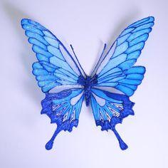 un papillon réalisé au stylo 3D