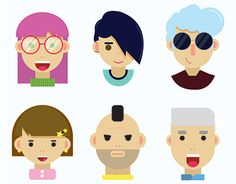 """Check out new work on my @Behance portfolio: """"Flat Character Icons"""" http://be.net/gallery/57061891/Flat-Character-Icons"""
