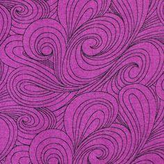 Quilting Cotton Print Fabric, RJR, Blenders by Jenny Beyer, Purple with black swirls, half yard, 4-oz, B14 by DartingDogFabric on Etsy