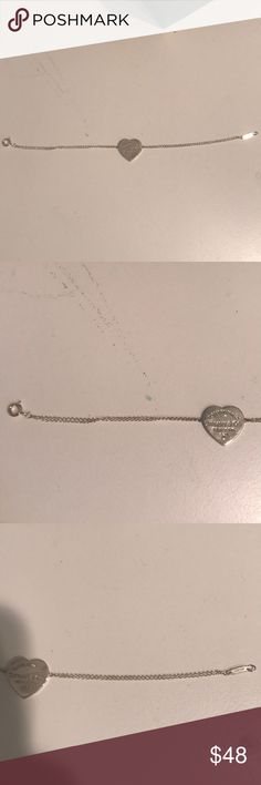 Tiffany heart silver bracelet like new Silver heart clasp bracelet like new Tiffany & Co. Jewelry Bracelets