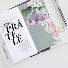 Friends layout in Travelers Notebook