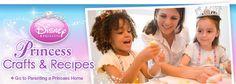 DIsney Princess crafts, recipes, printables, parties, and character fun
