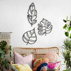 Buy Animula Three Leaves Metal Wall Art from our stunning Wall Decor range at Red Candy, specialists in funky home accessories and gifts! 3d Wall Decor, Metal Wall Decor, Metal Leaf Wall Art, Outside Wall Decor, Tropical Wall Decor, Tropical Interior, 3d Prints, Geometric Wall, Floral Wall