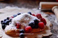 Gluten Free Dairy Free Berry Nutty Calzone, Vegetarian