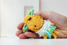 Sheep - lamb - goat - symbol 2015 new year - miniature artist toy by Farberova Olga - for adoption on ETSY